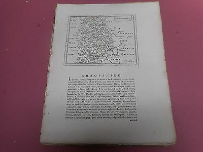 100% Original Shropshire  Map By Seller/grose C1790 Vgc