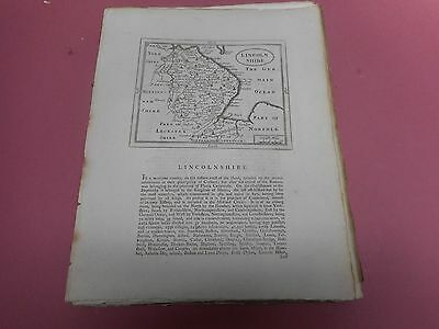 100% Original Lincolnshire  Map By Seller/grose C1790 Vgc