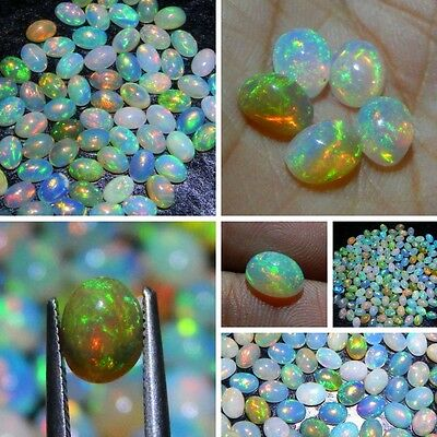 Wholesale-Price Natural Ethiopian Wello Opal Gemstone Nice Cabochon 6x4 mm Oval