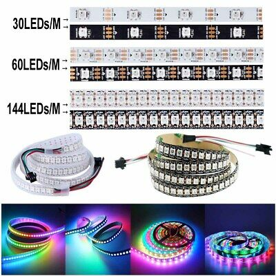 5V WS2812B 5050 RGB 30/60/144LEDs/M LED Strip ws2812 IC Individual Addressable