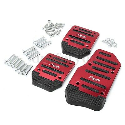 Universal Racing Sports Non-Slip Manual Car Truck SUV Foot Pedals Pad Cover Red