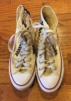 Converse Women's Studded High Top Casual Sneakers US 8M