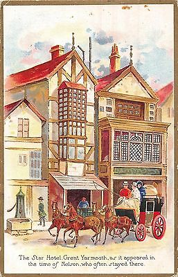POSTCARD    NELSON    The  Star  Hotel  Great  Yarmouth