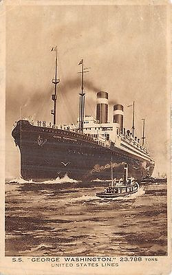 Postcard  Ships   Ss    George  Washington