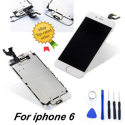 For White iPhone6 Screen Replacement Full with Home Button & Camera