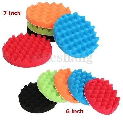 5x Wave Sponge Pad Polishing Wheel Ball 6 / 7 Inch For Polisher Buffer Select