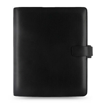 Filofax A5 Size Metropol Organiser Planner Notebook Diary Black Leather - 026968