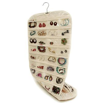 Jewelry 80 Pocket Hanging Storage Organizer Holder Earing Bag Pouch Display