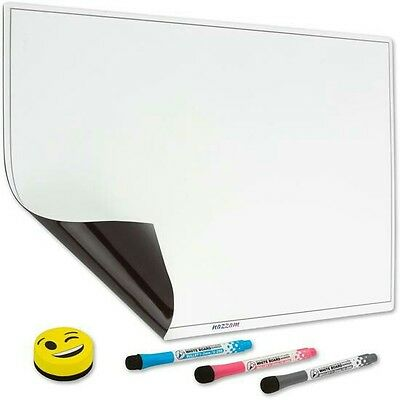 "Big Sale! Magnetic Dry Erase Whiteboard for Fridge 17x13"" & 3 Markers & Eraser"