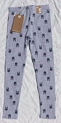 COTTON ON - Bunny Face Print Leggings - Size 5 - NEW