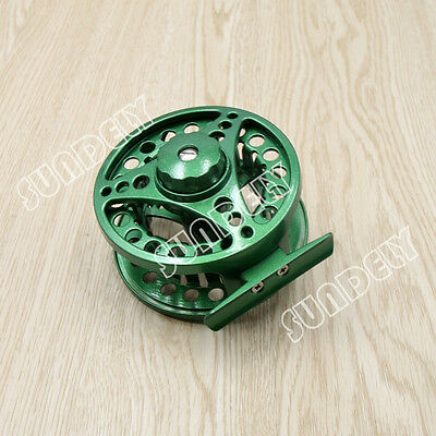 Green Aluminum Fly Fishing Reel 5/6 Left and Right Hand Retrieve 85mm AU