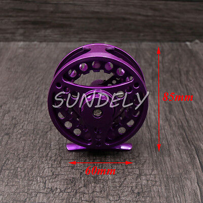 Purple Aluminum Fly Fishing Reel 5/6 Left and Right Hand Retrieve 85mm AU