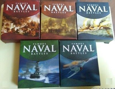 Cook Island 2010-2011 1$ Famous Naval Battles serie Silver Proof 5 Coins set