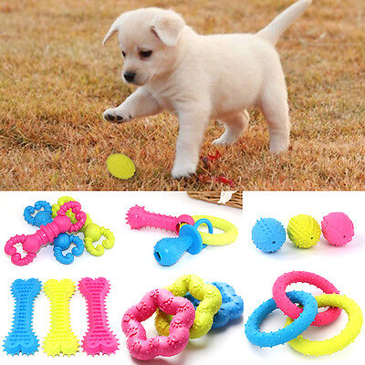 1 Pet Dog Puppy Rubber Dental Teething Healthy Teeth Chew Training Play Toy HOT