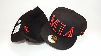 Nwt New Era Hat Cap Fitted 59Fifty Miami Heat Size 7 Black Red Nba