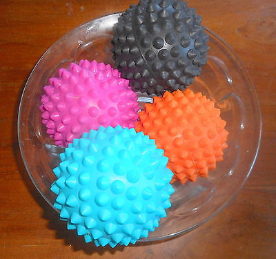 10cm (2) AUSTRALIAN MADE SPIKY BALLS FOR FOOT & BODY MASSAGE TO RELIEVE TENSION