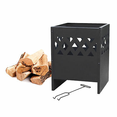 La Hacienda Large Outdoor Garden Fire Pit Basket Log Burner Wood Patio Heater