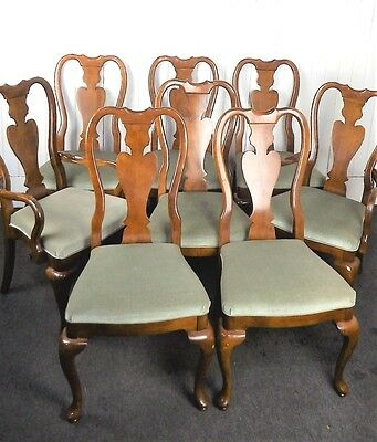 A set of 8 Queen Anne style dining chairs