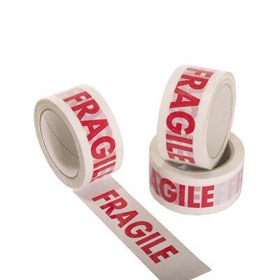"Fragile Strong Printed Parcel Packing Tape2"" 48Mm X50M Multilisting Box Sealing"