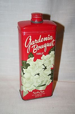 Vintage Gardenia Bouquet Talc TIN w/Contents by Dorothy Reed, NY. Great Cond.