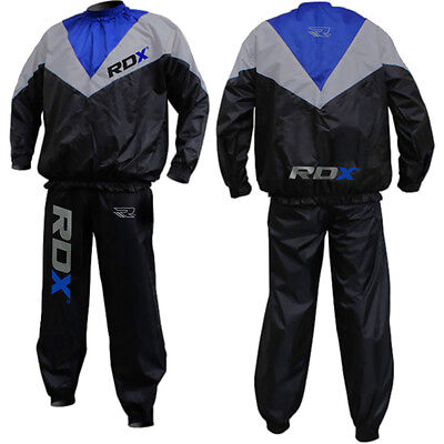 RDX Sauna Sweat Suit Heavy Duty Gym Fitness Exercise Weight Loss Boxing MMA OS