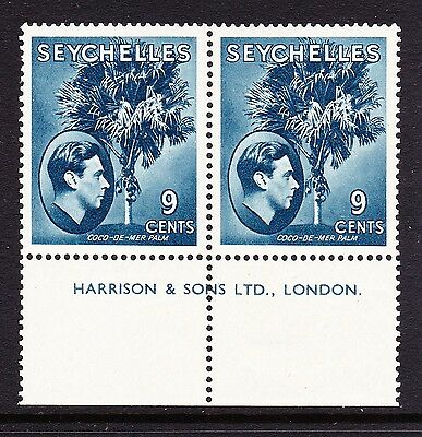 SEYCHELLES 1938-49 9c DULL-BLUE ORDINARY PAPER SG 138ac MINT/ MNH.