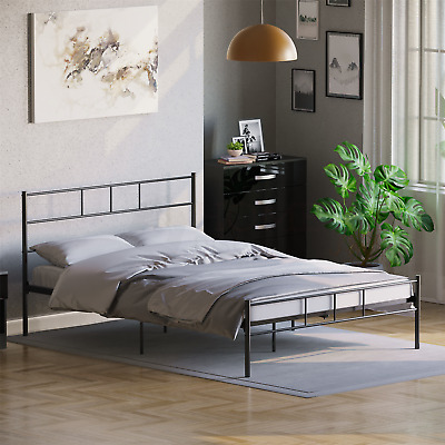Dorset Double Bed Frame Black Metal Steel Modern Stylish Comfy Strong Modern