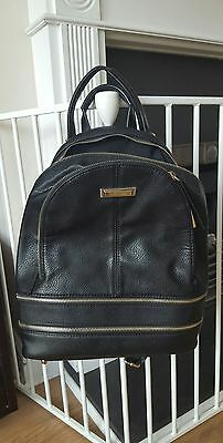River Island black and gold ruck sack faux leather bag