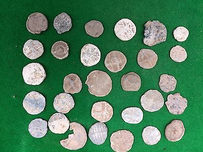 30 Medieval Lead Tokens Metal Detecting Finds