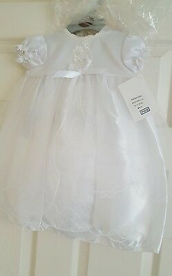 Baby Christening Dress White 6-12 months