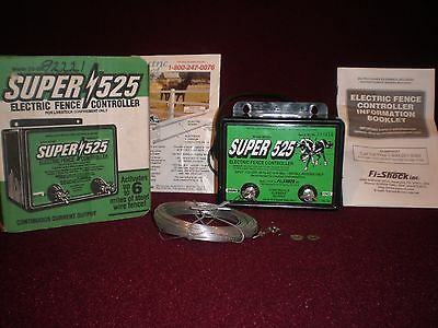 Electric Fence Controller Super 525 by Fi-Shock 6 Mile Model SS-25