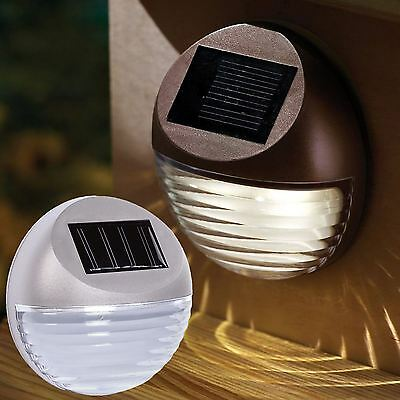 Solar Powered Outdoor Garden Fence Step Gutter Fence Lamps Decorative Led Light
