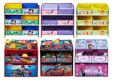 Choose From Disney & Character Storage Units Cars 3, Minnie, Frozen, Paw Patrol
