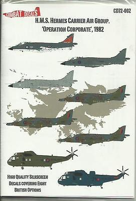Combat Decals 72-002 HMS Hermes Carrier Air Group Falklands 1982 in 1:72 Scale