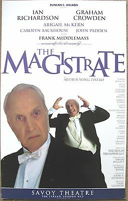 The Magistrate, Savoy Theatre, 1997, 12.5 x 20 Inch Original Poster
