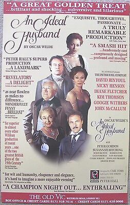 An Ideal Husband, The Old Vic, 1996, 12.5 x 20 Inch Original Poster