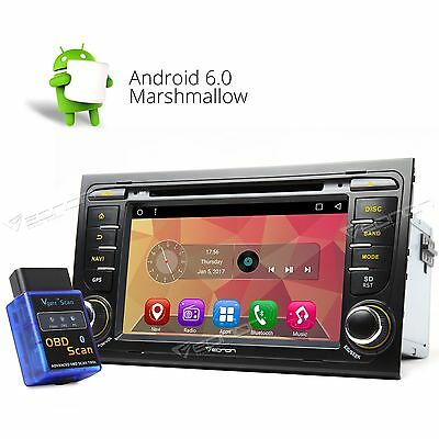 """Fits Audi A4 S4 RS4 Android 6.0 7"""" Car DVD GPS Player Radio C OBD2 In Dash Unit"""