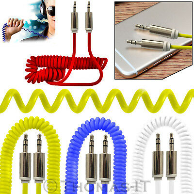 1M 3.5mm Jack to Jack STEREO Car Audio AUX Braided Cable Lead Headphone iPhone