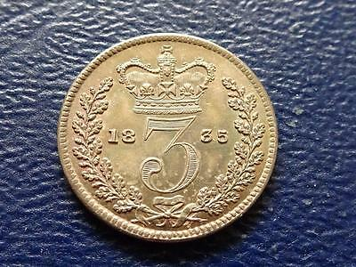 William 1111 Silver Threepence 1835 Nice Coin Great Britain Uk