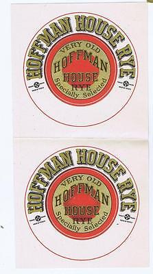 Very Old Hoffman House Rye antique whiskey bottle label, uncut #102