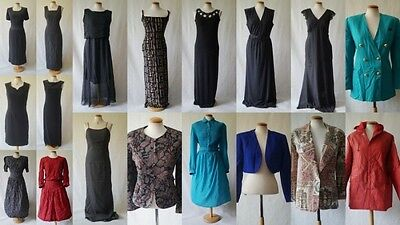 Vintage wholesale job lot vintage clothing, dress, jacket (18 ITEMS)