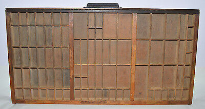 Vintage Printer's Letterpress Type Tray/Drawer Shadow Box California Job Case