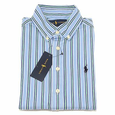 7280S camicia bimbo RALPH LAUREN botton down manica lunga stripes shirt kid