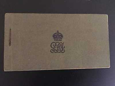 Extremely Rare Government of India complete booklet of 1935 1 rupee (25) notes