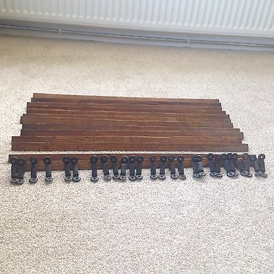 Antique 1930's Oak Stair Rods In Good Condition