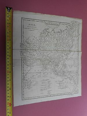 100% Original Asia Map By Cooke/lodge C1820 Vgc New Holland China India