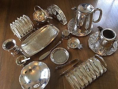 Mixed Lot Of Silver Plated Items