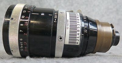 CARL ZEISS VARIO-SONNAR 10-100MM 1:2.8 LENS with CAMEFLEX MOUNT