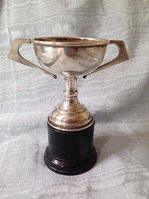 Lovely Silver Plate Vintage Trophy 6 Inches Wood Base And Not Engraved