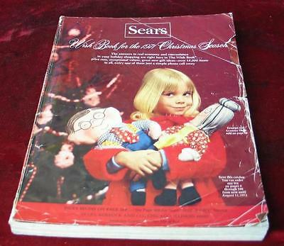 Vintage 1972 Sears Roebuck & Company Christmas Wishbook Catalog